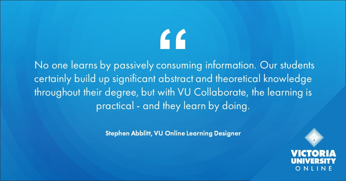 Stephen Abblitt on VU Collaborate